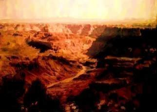 Asbjorn Lonvig, 'Grand Canyon', 2010, original Digital Art, 59.4 x 84  cm. Artwork description: 3138  Asbjorn Lonvig's words: When you prefer traditional painting style, i. e. with visual brush strokes, the Corel Painter Essential 4 software is used.Corel Painter Essential 4 parameters: Edge: None, Color: Intense, Paper: Basic, Brush: Colored Pencil Cloner and Soft Edge Cloner, Random: No. ...