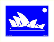 Asbjorn Lonvig Sydney Opera House with printed passepartout, 2006