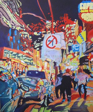 Claudette Losier; No Left Turn, 2013, Original Painting Acrylic, 40 x 48 inches. Artwork description: 241    Working through images of different cities where I lived and worked to give a sense of place in the abstract form.      ...