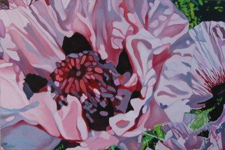 Claudette Losier; Silver Lining, 2011, Original Painting Oil, 36 x 24 inches. Artwork description: 241  Pink Poppies  ...