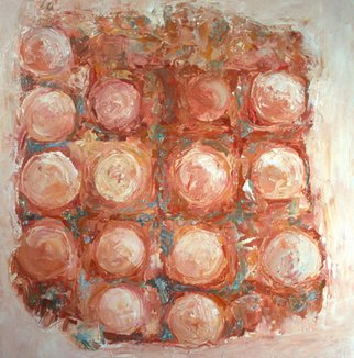 Louise Weinberg; Sphere Series 23, 2008, Original Painting Oil, 24 x 24 inches. Artwork description: 241  spheres emerging from a white backgraound ...
