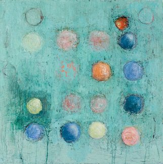Louise Weinberg; Sphere Series Untitled 28, 2009, Original Painting Oil, 24 x 24 inches.