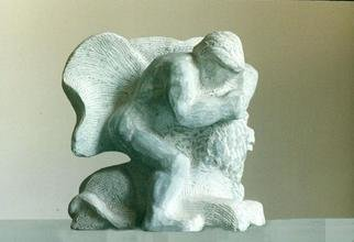 Lou Lalli; Heracles And The Nemean Lion, 2004, Original Sculpture Stone, 12 x 14 inches. Artwork description: 241 Bardiglio marble...