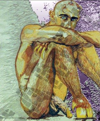 Antonio Garrett; Cristo, 1998, Original Drawing Pencil, 8.5 x 11 inches. Artwork description: 241          Prints arrive- loose un- matted. Color variations are as seen. ALL prints DO NOT include watermark. Material- Color Pencils, graphite and Photoshop techniques.ALL prints- DO NOT include watermark.             ...