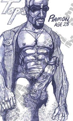 Antonio Garrett; Ramon, 1999, Original Drawing Pencil, 8.5 x 11 inches. Artwork description: 241               Prints arrive- loose un- matted. Color variations are as seen. ALL prints DO NOT include watermark. Material- Color Pencils, graphite and Photoshop techniques.ALL prints- DO NOT include watermark.                  ...