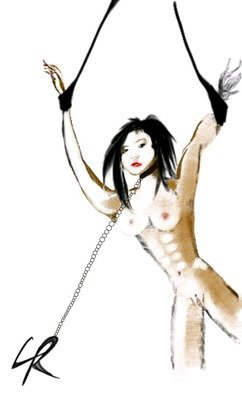 Leigh Roberts; Bondage, 2015, Original Digital Drawing, 11.5 x 16 inches. Artwork description: 241    Signed LR   ...