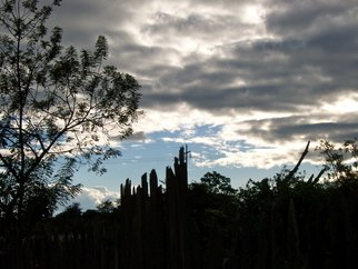 Laurie Delaney; Broken Fences, 2011, Original Photography Color, 10 x 8 inches. Artwork description: 241 Honduras, sunset silhouette...