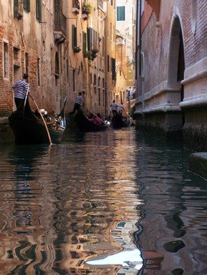 Laurie Delaney; Traffic Jam, 2011, Original Photography Color, 8 x 10 inches. Artwork description: 241  Canal in Venice. ...