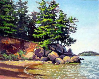 Larry Seiler, Presque Isle of Marquette..., 2003, Original Painting Oil,    inches