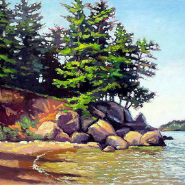Artist: Larry Seiler, title: Presque Isle of Marquette M..., 2003, Original Painting Oil