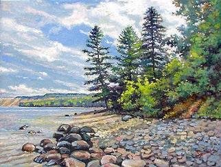 Larry Seiler, UP Shores Pictured Rocks ..., 2005, Original Painting Oil,    inches
