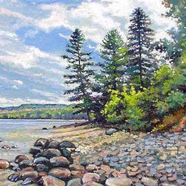 Artist: Larry Seiler, title: UP Shores Pictured Rocks Mi..., 2005, Original Painting Oil