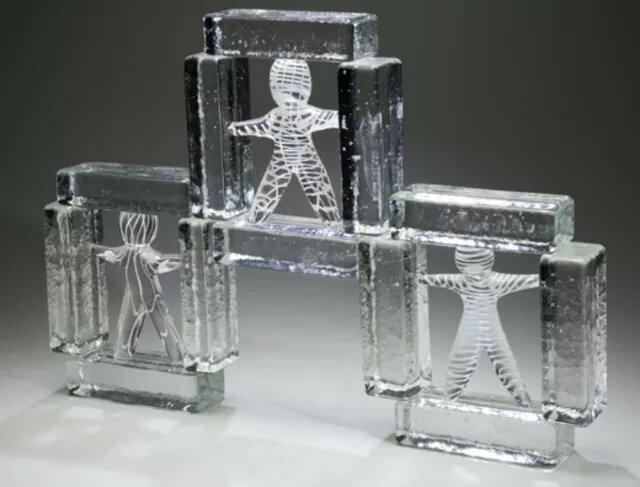 Lawrence Tuber; Heredity, 2019, Original Glass Cast, 18 x 14 inches. Artwork description: 241 Hot sculpted and cast glass...