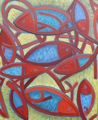 Luana Stebule; Rhapsody, 2018, Original Painting Oil, 51 x 76 cm. Artwork description: 241 inspired by fish. ...