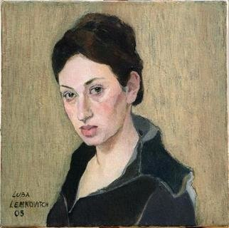 Lubov Meshulam Lemkovitch; Anna, 2005, Original Painting Oil, 50 x 50 cm. Artwork description: 241  Portrait of a Young Woman ...