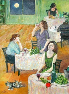 Lubov Meshulam Lemkovitch; Party, 2001, Original Painting Oil, 60 x 80 cm.