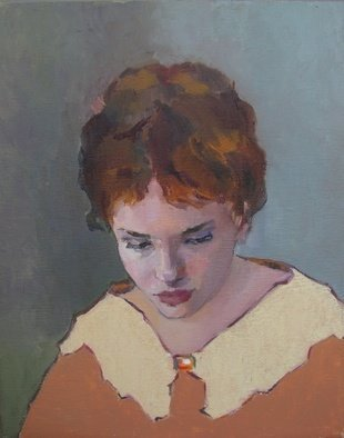 Lubov Meshulam Lemkovitch; Portrait Of A Girl, 2009, Original Painting Oil, 40 x 60 cm.