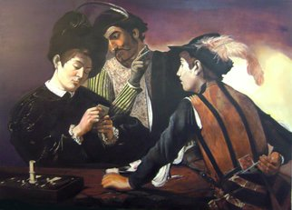 Camilo Lucarini; Homage To Caravaggio, 2014, Original Painting Oil, 155 x 110 cm. Artwork description: 241  It is the reproduction of the famous painting