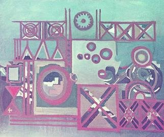 Lucia Timis; Composition 01, 2004, Original Painting Oil, 48 x 36 inches.
