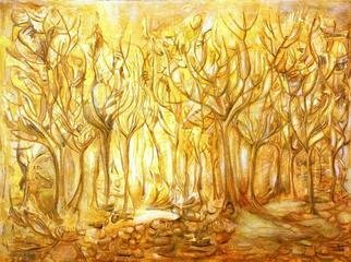Lucia Timis, 'Forest 01', 2004, original Painting Oil, 40 x 30  x 1 inches.