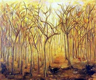 Lucia Timis; Forest 02, 2004, Original Painting Oil, 30 x 25 inches.