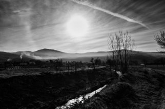 Bernhard Luettmer; This Morning IV, 2009, Original Photography Black and White, 70 x 100 cm. Artwork description: 241          Landscape in Tuscany/ Landscape, italy, tuscany, morning, totady, tree,         ...