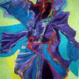 Luis Burgos, , , Original Painting Oil, size_width{Blue_orchid_exotic-1230701890.jpg} X 32 inches