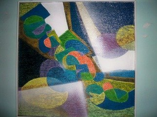 Luis Burgos; Composition, 2006, Original Painting Oil, 28 x 28 inches. Artwork description: 241  Composition ...