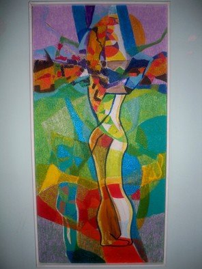 Luis Burgos; Lovers , 2005, Original Painting Oil, 24 x 49 inches. Artwork description: 241  Lovers ...