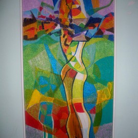 Luis Burgos, , , Original Painting Oil, size_width{Lovers_-1230701292.jpg} X 49 inches