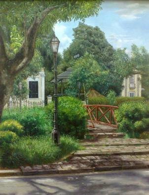 Luiz Henrique Azevedo; Av Koeler detail, 2009, Original Painting Oil, 40 x 50 cm. Artwork description: 241 Av. Koeler, an avenue in the city of Petropolis, Rio de janeiro, Brasil. Its beauty, its details....