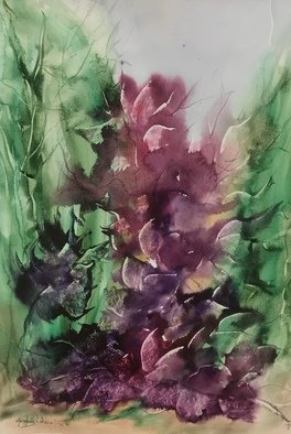 Maria Ines Lukacs; Flowers For You, 2019, Original Watercolor, 38 x 56 cm. Artwork description: 241 Flowers from the heart ...
