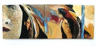 Luminita Gliga; Autobiographical, 2007, Original Painting Acrylic, 80 x 220 cm. Artwork description: 241  a dyptic  ...