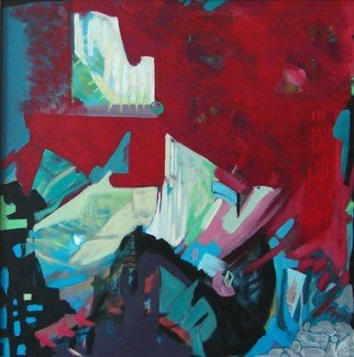 Luminita Gliga; Summer City, 2010, Original Painting Acrylic, 63 x 63 cm.