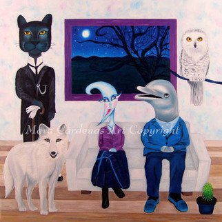 Mara Cardenas; The Photograph, 2007, Original Painting Oil, 39 x 39 inches. Artwork description: 241  The family ready for the photo. ...