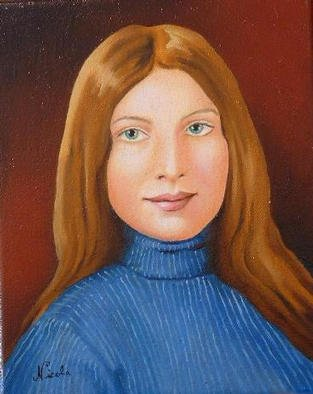 Nicola Lupoli; Deborah Santos, 2002, Original Painting Oil, 8 x 10 inches. Artwork description: 241 Portrait of the artists wife. ...