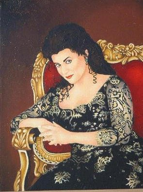 Nicola Lupoli; Portrait Of Cecelia Bartoli, 1998, Original Painting Oil, 9 x 12 inches.