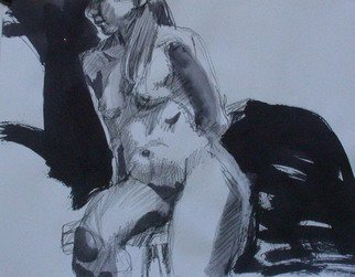 Lucille Rella, 'Black And White Study', 2010, original Mixed Media, 24 x 18  inches.