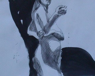 Lucille Rella, 'Black And White Study 2', 2010, original Mixed Media, 24 x 18  inches.