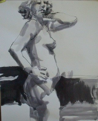 Lucille Rella, 'Figure Study 3', 2010, original Drawing Other, 24 x 18  inches.