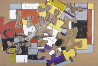 Lucille Rella, 'Homage To Mondrian', 2009, original Painting Acrylic, 60 x 40  x 1 inches.