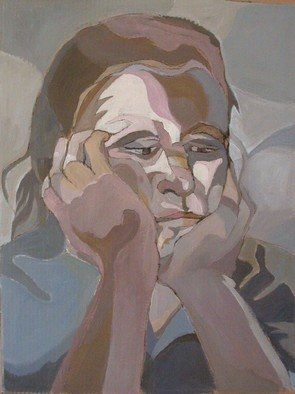 Lucille Rella, 'Self Portrait', 2009, original Painting Acrylic, 30 x 40  inches.