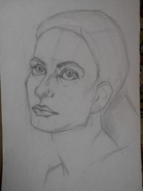 Natalia March; Portrait, 2015, Original Drawing Pencil, 15 x 20 cm. Artwork description: 241  Portrait, women, girl ...
