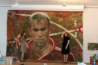 Ekaterina Lutokhina; Zinedine Zidane, 2008, Original Mixed Media, 450 x 300 cm. Artwork description: 241  To obtain a bachelor's degree, you need to create a special work: