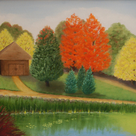 Lora Vannoord, Fall in Michigan, 2015, Original Painting Oil, size_width{Fall_in_Michigan-1441388866.jpg} X 16 x  inches