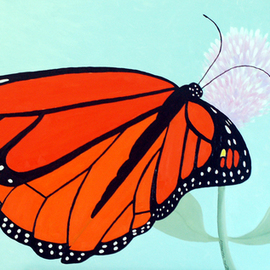 Lora Vannoord, Monarch Butterfly, 2014, Original Painting Oil, size_width{Monarch_Butterfly-1437830781.jpg} X 19 x  inches