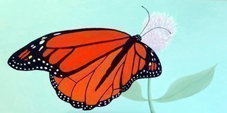 Lora Vannoord; Monarch Butterfly, 2014, Original Painting Oil, 35 x 19 inches. Artwork description: 241 This oil painting of the Monarch Butterfly was Donated to the Art4apes for sale from their exhibit. However Print On Demand is available here. See that section for sizes and prices...