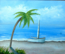 Artist: Lora Vannoord's, title: The Beach, 2012, Painting Oil