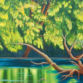 Lora Vannoord, , , Original Painting Oil, size_width{Yellow_leaves-1547646557.jpg} X 16 inches