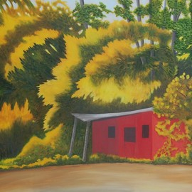 Lora Vannoord, , , Original Painting Other, size_width{the_red_shed-1560352917.jpg} X 24 inches